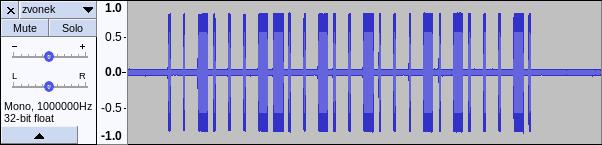 Waveform zachyceného signálu